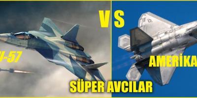 RUS SU-57 vs AMERİKAN F-22